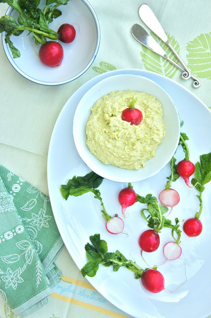 Fava Bean and Goat Cheese Dip with Radishes - Thyme