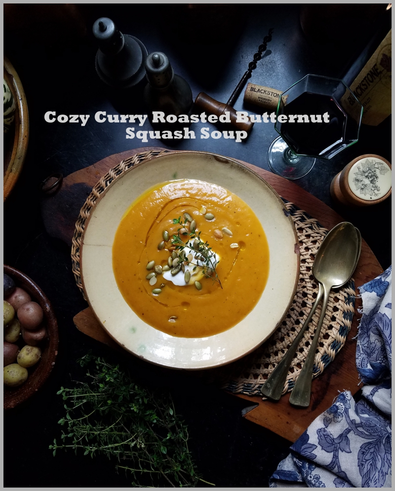 Cozy Curry Roasted Butternut Squash Soup