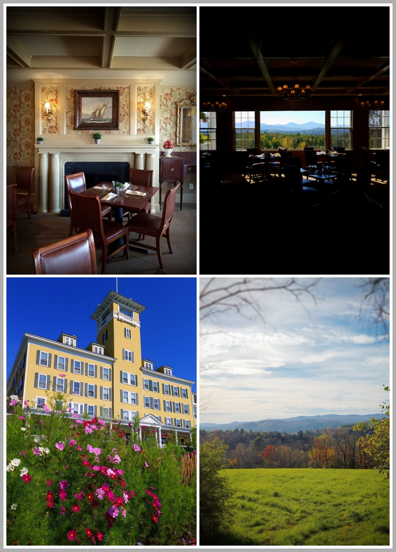 Up in the White Mountains of New Hampshire rests the Mountain View Grand Resort in Whitefield, NH. The first blush of fall colors stretches as far as the eyes can see.