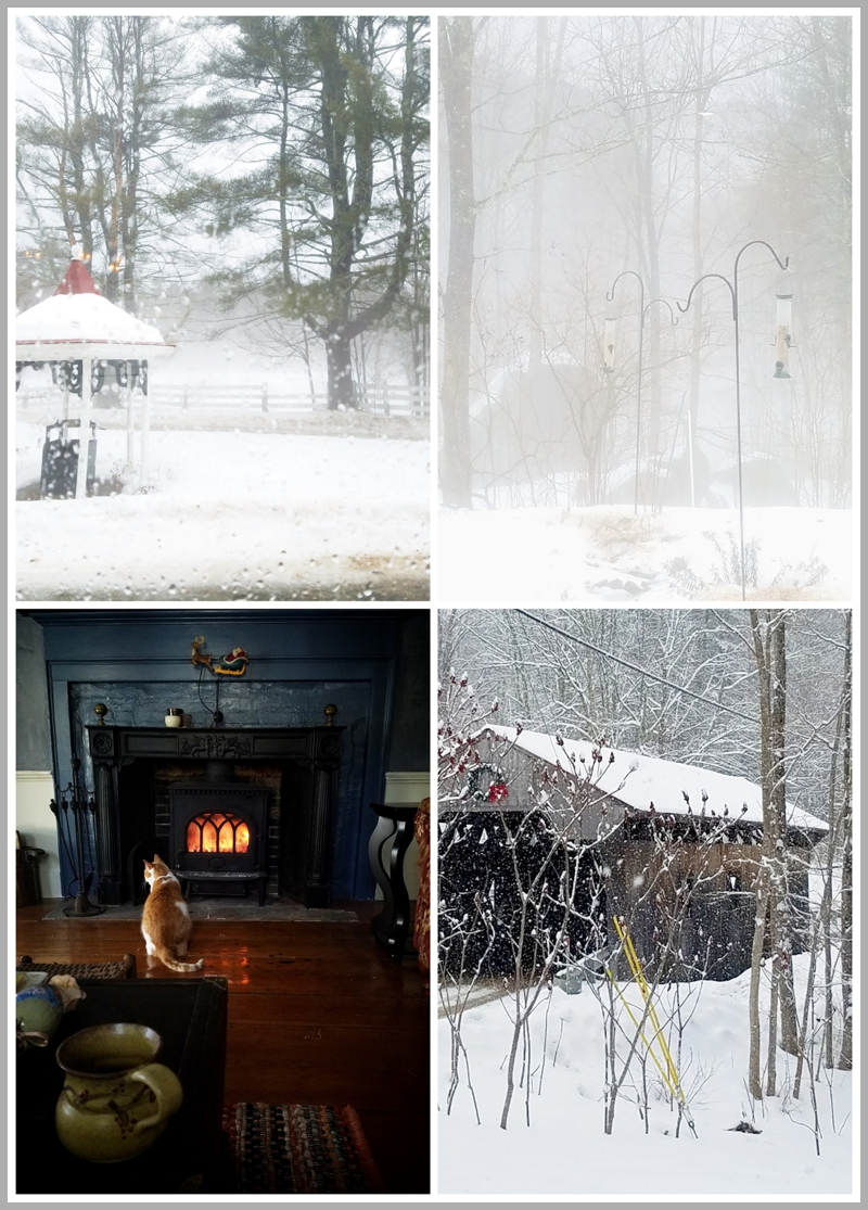 Beautiful New Hampshire buried in one snow fall after another.