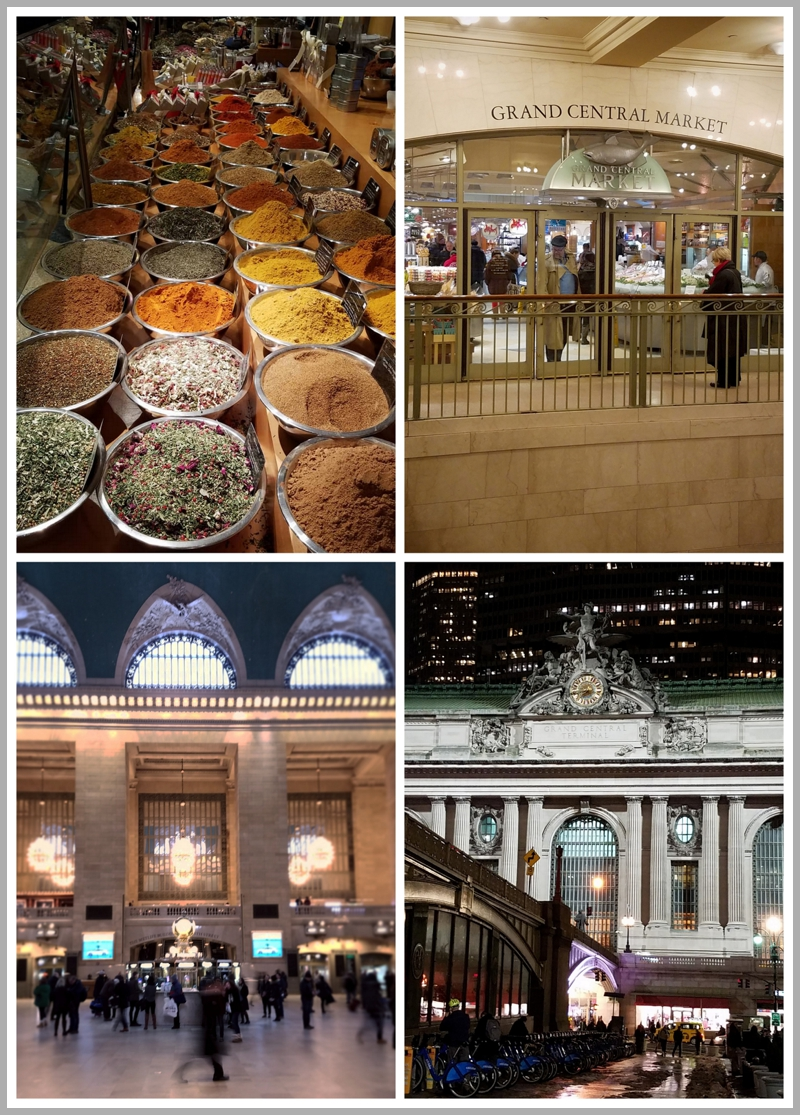 The wonderful food market inside Grand Central Station in New York City