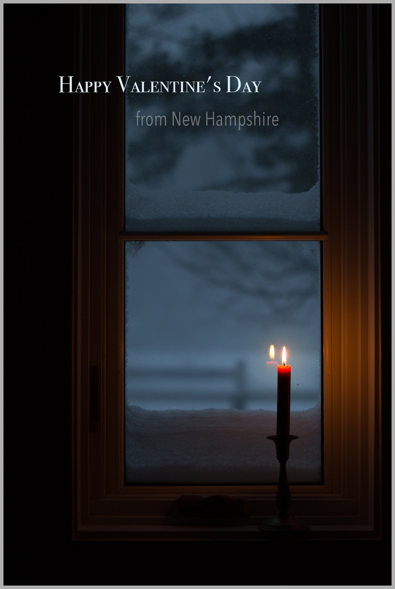 Back home in New Hampshire...ready to recuperate and relax while watching yet another snow storm roll in!