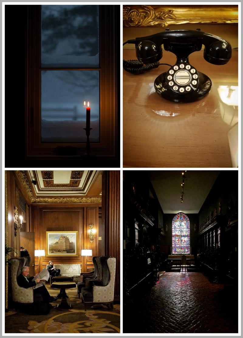 Old fashioned phone in the Omni Parker House hotel, The Parker House lobby, Isabella Gardner Museum
